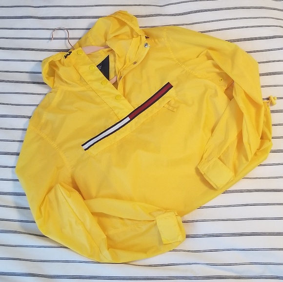 fashionablestyle browse latest collections deft design Tommy Hilfiger Tommy Jeans Yellow raincoat jacket